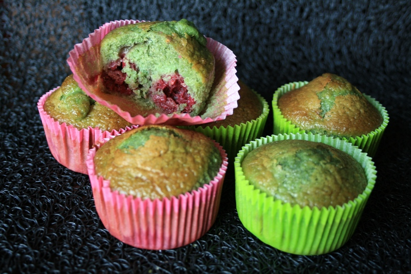 Muffins pistaches-framboise