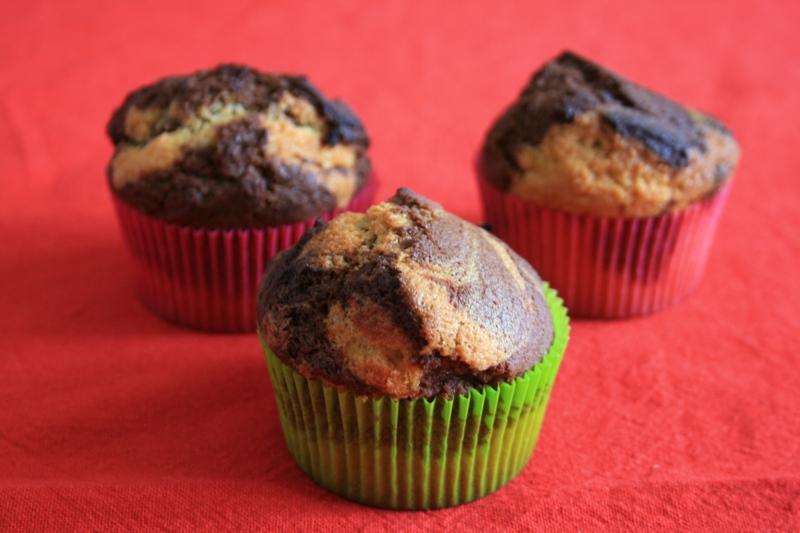 Muffins marbrés vanille-chocolat