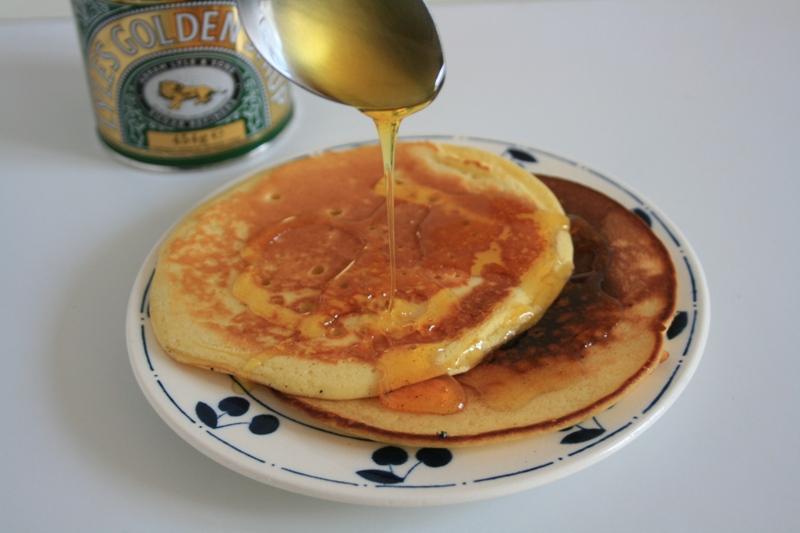 Pancakes au Golden Syrup