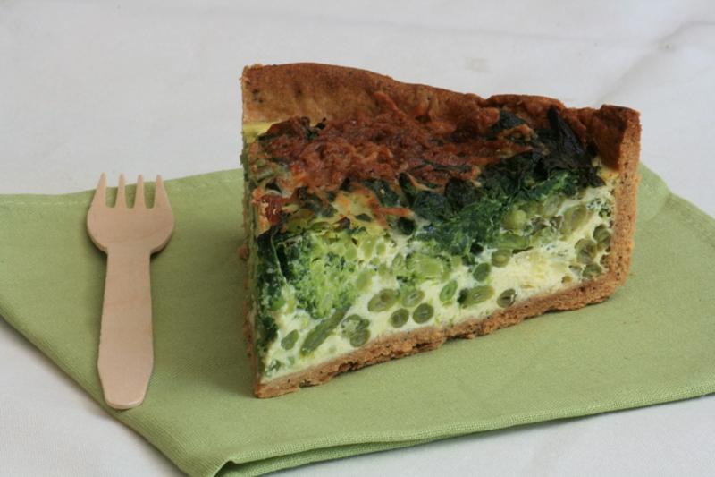 Tarte aux légumes verts