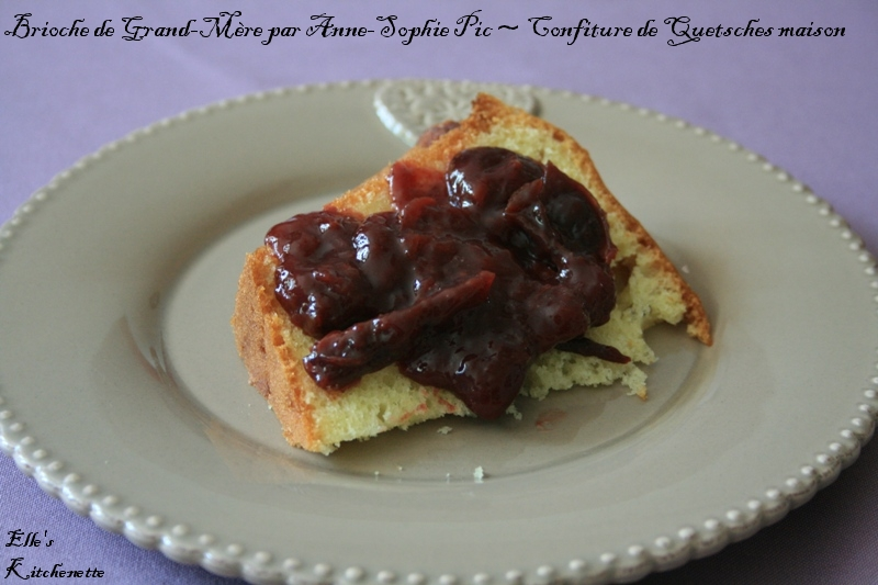 Brioche de Grand-Mre ~ Confiture de quetsches maison
